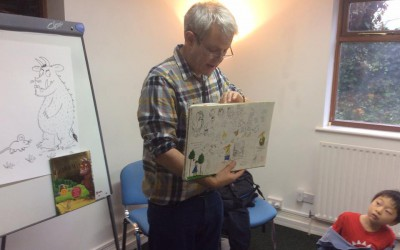 Axel 'The Gruffalo' Scheffler visits Art Room!