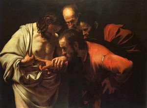 Day 12: The Incredulity of St. Thomas - Caravaggio 1601