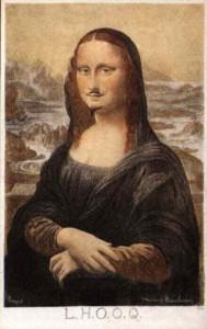 Day 9: L.H.O.O.Q - Marcel Duchamp 1919