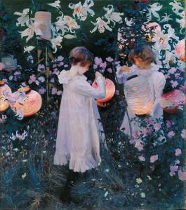 Day 14: Carnation, Lily, Lily, Rose - John Singer Sargent 1885