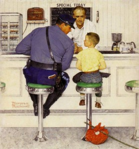 Day 10: The Runaway - Norman Rockwell 1958