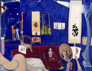 Day 8: Self Portrait in the Studio - Brett Whiteley 1976