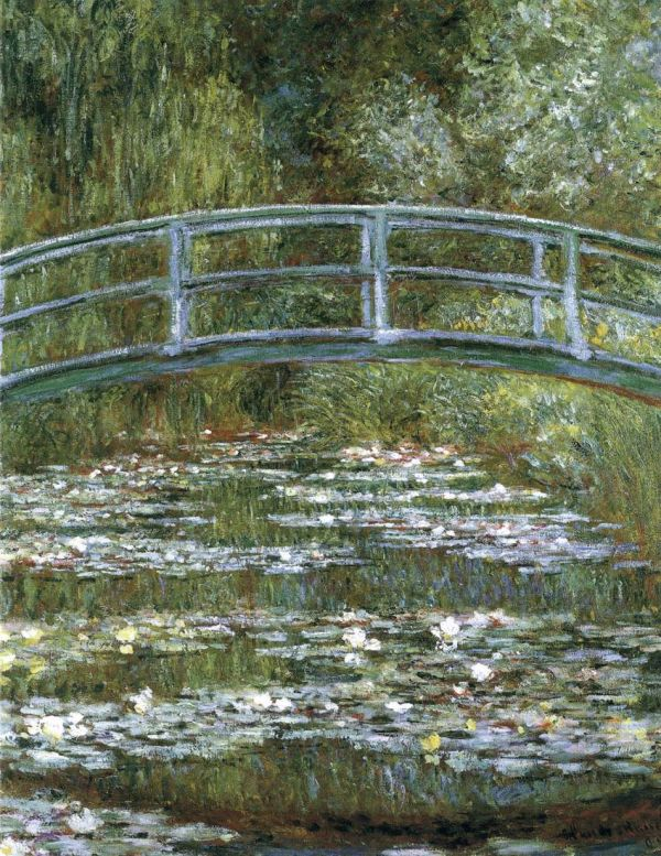 bridge over a pond of water lillies claude monet Claude monet page menu selected page bridge over a pond of water lilies.