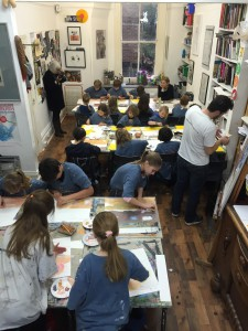Miró workshop: the pupil's at work